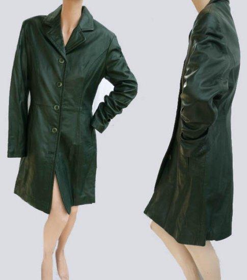 Michael Hoban Coat Jacket 9 10 Leather NWOT