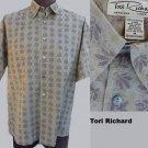Tori Richard Shirt M Short Sleeves Button front  Cotton lawn