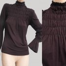 Womens top Blouse RUCHED SZt2 Maje Paris op Blouse Sz T2 Ruched Long sleeves France