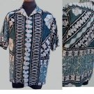 Vintage Hawaiian Shirt Border print Hilo Hattie XL  Hawaiian Original SS Border print Cotton