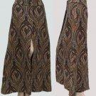 Vintage 70s Tapestry paisley skirt Maxi Ellen Tracy long Split middle high waist