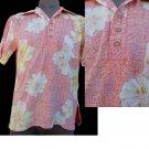VTG Mens Aloha Hawaiian Shirt Pullover style S Reds yellow Reverse print SS Dolphin