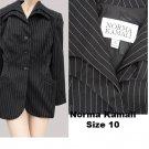 Womens Vintage Blaer jacket SZ 10 Norma Kamali Jacket Black White stripe