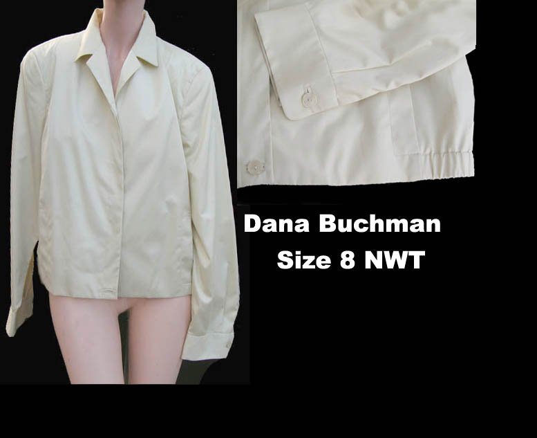 Dana Buchman Womens sport Casual jacket NWT  Dress outerwear Sz 8 Cotton blend
