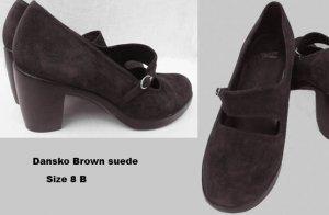 Dansko shoes Tara 8 B Brown suede NWOBStraps Buckle