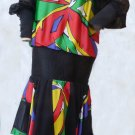 VTG 80s Dress Asymmetrical handkerchief Hem SZ 12 Illusion top & Long Sleeves