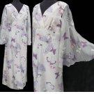 VTG Alfred Shaheen California Hawaii MAXI dress Bell Bat wing sleeves Butterflies Bold colors