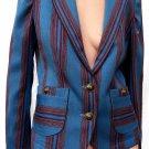 Womens Jacket Robert Graham Blazer jacket M Striped Long sleeves EUC 8