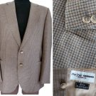 Mens Blazer Cashmere Sportcoat jacket Grieder Monsieur 2 button check plaid