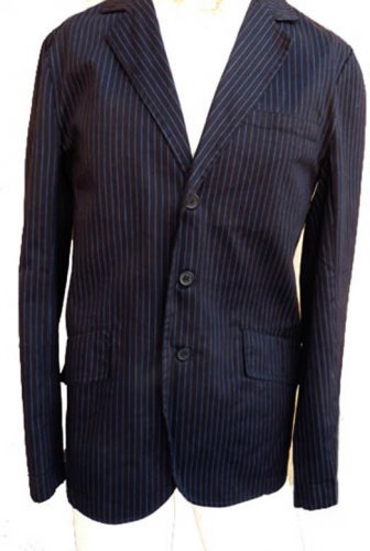 Tripp jacket blazer S Mens Striped  Black Blue stripes Cotton