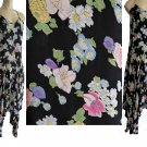 Moschino dress Sz 8 Spaghetti straps Black Floral Color floral Ankle length AsymMetrical Italy