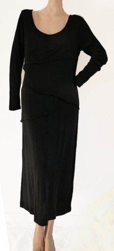 Peruvian Connection Dresscotton  Black Long Dress Sz MP Pima