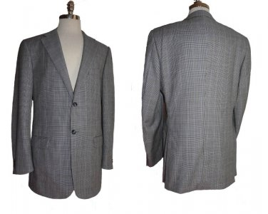 Corneliani Blazer Sportcoat 42 L Two button Black white jacket