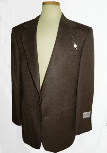 Mens blazer sportcoat Oscar de la Renta NWT Blazer 40 R Sportcoat Brown Herringbone