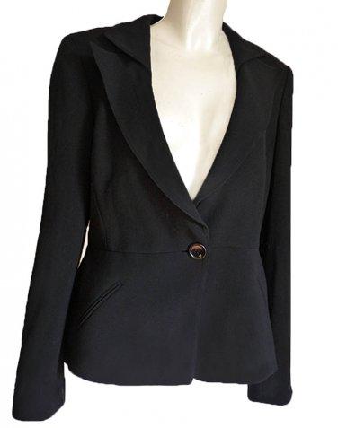 Giorgio Armani blazer  Collezion Dark navy jacket Sz 12 Vintage 1980s Blazer Wool