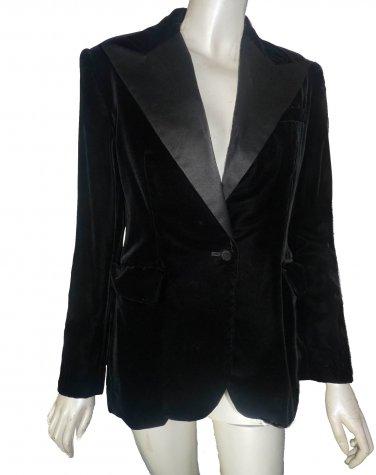 Ralph Lauren tuxedo jacket black Peak lapels size 2