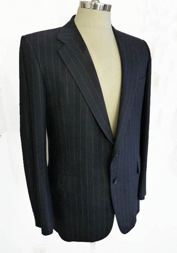 Chester Barrie jacket 42 Strombergs Goteberg Hand tailored England 2 button Stripe Navy