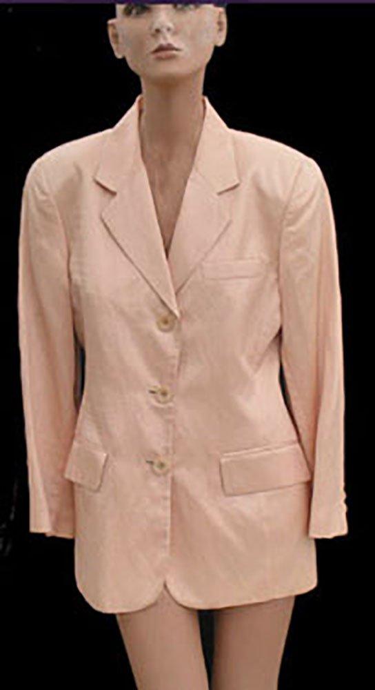 Womens Linen jacket Philippe Adec Sz 4 Shimmery Peach USA