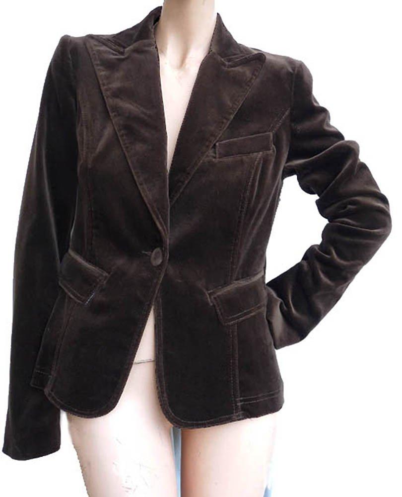 Velvet jacket Seven 7 Forall Mankind Sz Small Brown Short blazer