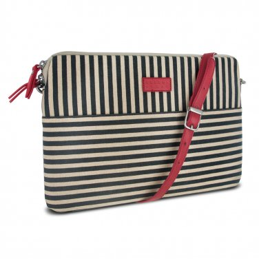 "Tablet Case for Microsoft Surface Pro 3 Striped with Shoulder Strap 12.75"" W x 8.75"" H"