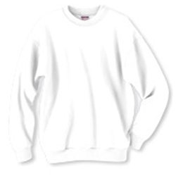 Adult Sweatshirt White Size M