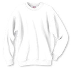 Adult Sweatshirt White Size XL