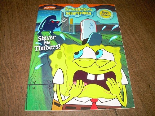 SHIVER ME TIMBERS-Spongebob coloring book with stickers