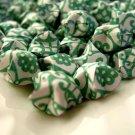 Dark Green Lucky Stars, Green Origami Star, Green Decoratio, Green Paper