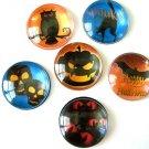 Holloween Round Glass Magnet, Holloween Round Fridge Magnet, Holloween Deco Glass Round Magne