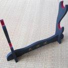 Bushido Black Double Tier Display Table Stand W/Kanji & Red Felt for Japanese Samurai  Sword