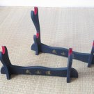 Bushido Single Tier & Double Tier Display Table Stands W/Kanji & Red Felt for Japanese Samurai Sword