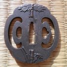 Bamboo Copper Tsuba Guard for Japanese Samurai Warrior Wakizashi Tanto Sword