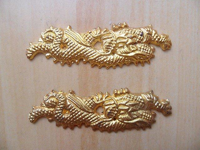 Dragon Menuki Ornament for Japanese Samurai Katana / Wakizashi / Tanto Sword