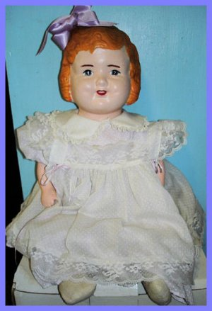 Antique Composition Bow Doll from the 1920s