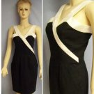 Paris france black white halter dress Sm US 4 French 38