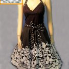 Trixxie black white cotton halter dress size 3 small