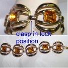 60's chunky topaz citrine bracelet