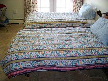 Ikea twin Comforters matching set of two dutch tulips