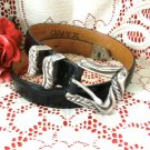 ONYX by Brighton Black Mock Alligator Leather Belt Size 26 XS