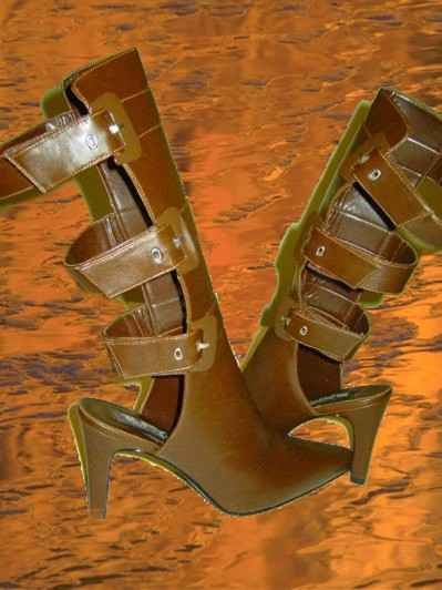Open Back Boots Made By Bfy Size 10 Gorgeous