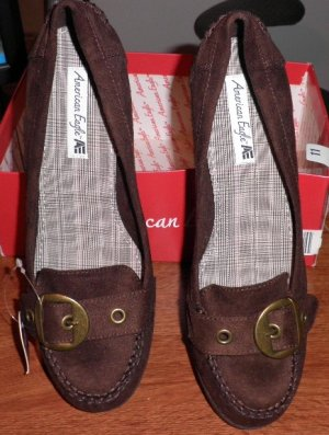 Brown Wedge Heels Shoes by American Eagle Sz 11 NWT