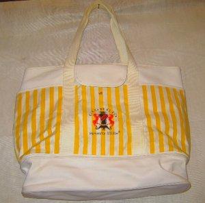 Vintage Giorgio Bag Tote Yellow/White Stripe, NWOT