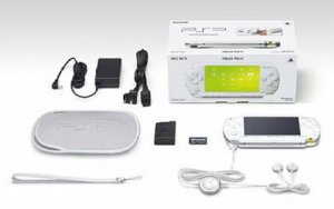 White Ceramic Sony PSP Value Pack  LIMITED EDITION