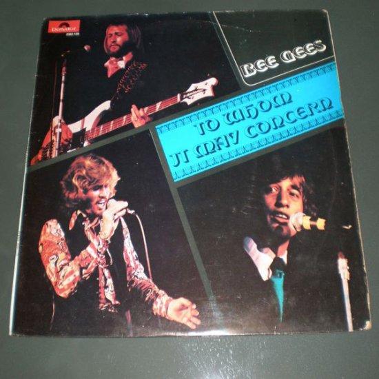 BEE GEES : TO WHOM IT MAY CONCERN ( Rock Pop Vinyl Record LP )