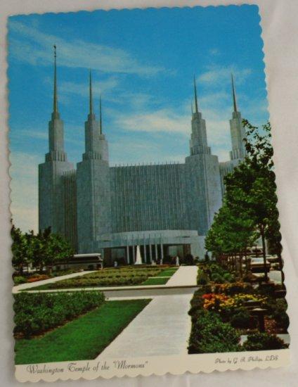 """ Morman Temple "" VINTAGE POSTCARD Washington DC"