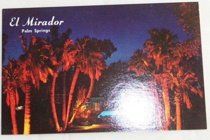 """""""El Mirador Hotel"""" VINTAGE POSTCARD Palm Springs California"""