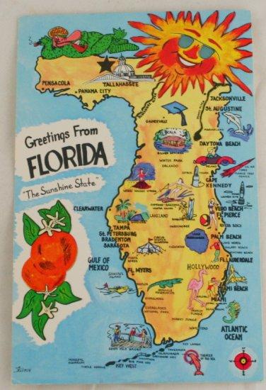 """Greetings From Florida"" VINTAGE POSTCARD Florida"