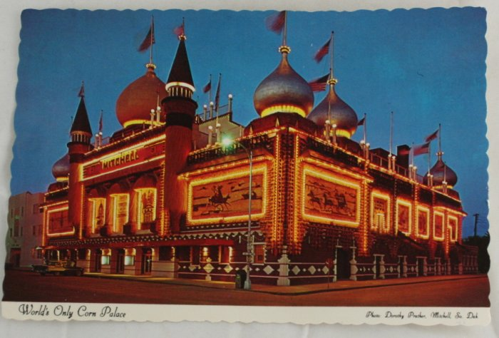 """Corn Palace"" VINTAGE POSTCARD Mitchell South Dakota"