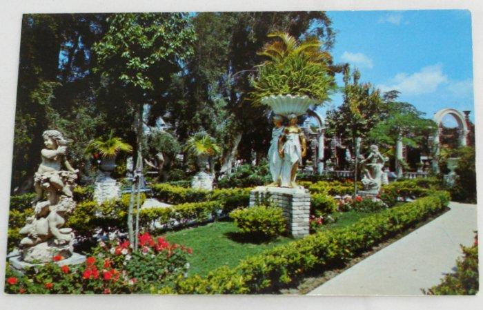 """East Garden""  VINTAGE POSTCARD Clearwater Florida"