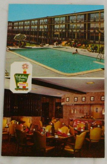 """Holiday Inn Midtown"" VINTAGE POSTCARD El Paso Texas"
